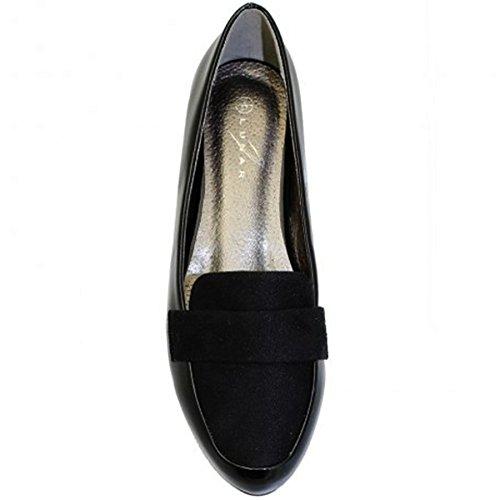 FANTASIA BOUITQUE FLC661 Iris II Sandales Dames Faux Daim Look Upper élégant Office Mocassins Noir