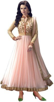 Seller King Net Anarkali Semi Stiched Dress Material (Dress_167_FreeSize_Pich)