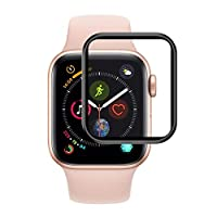 Microsonic 17889 Apple Watch Series 4 40mm Tam Kaplayan Temperli Cam Full Ekran koruyucu Siyah