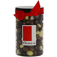 Rita Farhi Milk, Dark and White Chocolate Covered Raisins in a Gift Jar, 350g