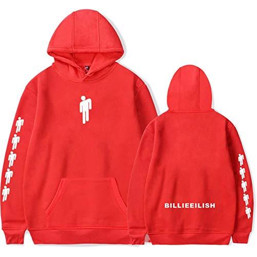 ZIGJOY Unisex Billie Eilish When We All Fall Asleep Where Do We Go Hoddie Freizeitkleidung Sweatshirt Kapuzenpullover mit Tasche für Fans 13085 RED S Red Womens Hoodie