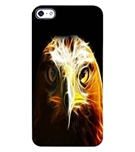 ColourCraft The Eagle Look Design Back Case Cover for APPLE IPHONE 4