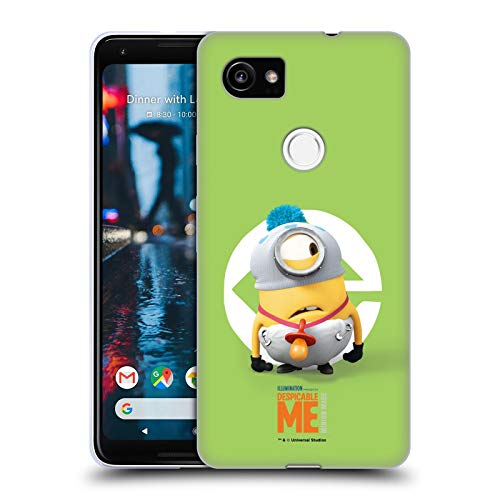 Head Case Designs Offizielle Despicable Me Stuart Baby Kostuem Minions Soft Gel Huelle kompatibel mit Google Pixel 2 XL