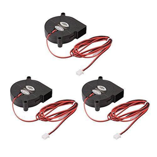 UEETEK 3pcs 5015 DC 12V 0.18A Kühler Elektrische Industrie Industrie Gebläse Lüfter 3D Drucker Zubehör