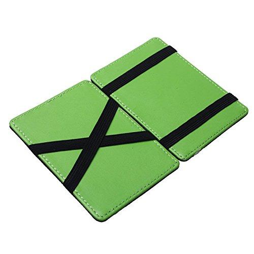 Portafoglio Magico in simili cuoio - magic wallet Credit Card Holder - porta  moneta (Verde) d1254cfa6d10