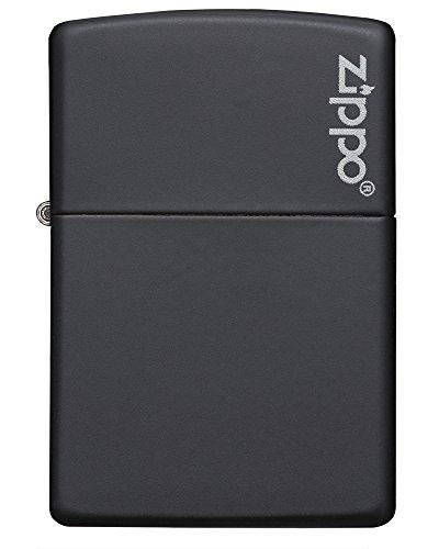 Zippo Sturmfeuerzeug 60001206 - 1290005 , matte schwarz Logo - 2