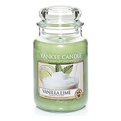 Idea Regalo - Yankee Candle Candela Grande Vaso, Vanilla Lime