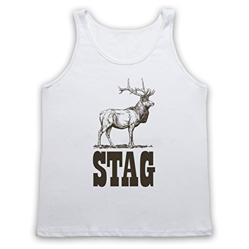 Stag Stag Do Tank-Top Weste Weis