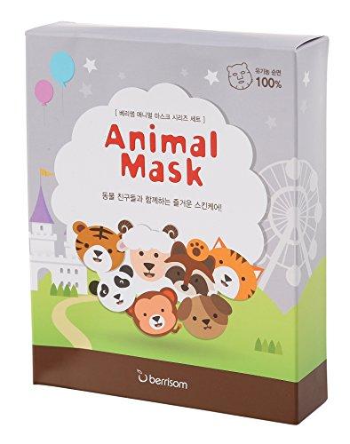 Blatt Haut Pflege Kosmetika Gesicht Tiger Panda Waschbär Schaf Katze Hund Affe (Maske Schafe)