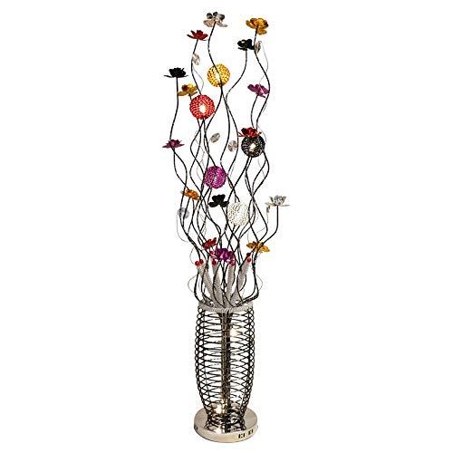 Stehleuchte LED Stehleuchte, Moderne große Blumenvase Design stehendes Licht Wohnzimmer Schlafzimmer Dekoration - Rot Silber Gold Lila Schwarz Aluminium Blütenblatt