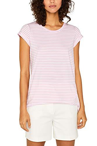 edc by ESPRIT Damen 059Cc1K003 T-Shirt, Rosa (Light Pink 690), Medium (Herstellergröße: M)