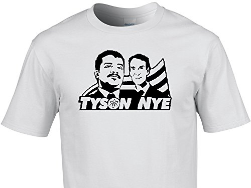 Mens cool funny Science guys Tyson and Nye T-shirt - Unique, Quality vinyl designs from NumbTs T-shirts & Stickers