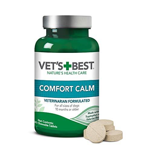 Vet's Best Natural Formula Comfort Calm Valerian Root Dog Chewable Tablets 30ct