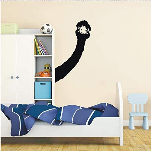 Wandtattoo Vinyl Aufkleber Strauß Wand Art Deco Tier Abnehmbare Schlafzimmer Wohnzimmer Art Deco Tapete Wandbild 36X57 cm