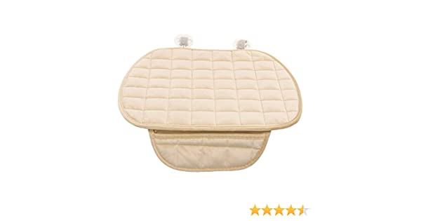 49*52cm Winter Warm Plush Anti Slip Car Seat Cover Plaid Cushion Protector Black