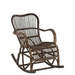 Rocking Chair ROTIN Marron (95x56x86cm) JOLIPA JLINE 91336