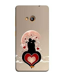 PrintVisa Designer Back Case Cover for Nokia Lumia 535 (Romantic couple enjoying closeness heart)