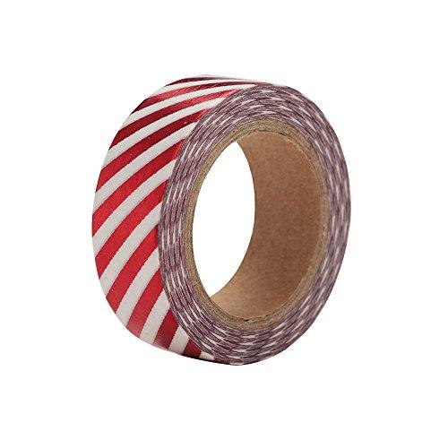 Wlgreatsp 1 X Größe 15mm x 10 mt Kawaii Scrapbooking Werkzeuge DIY Streifen, Gold Rosa Blau Ananas & Punkte Universal Papierfolie Washi Tapes Masking -