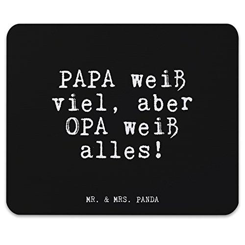 Mr. & Mrs. Panda Mauspad mit Spruch Papa weiß viel, Aber Opa weiß Alles!