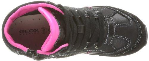 Geox J Sakura A Mädchen Sneaker Schwarz - Noir (Black/Fuchsia)