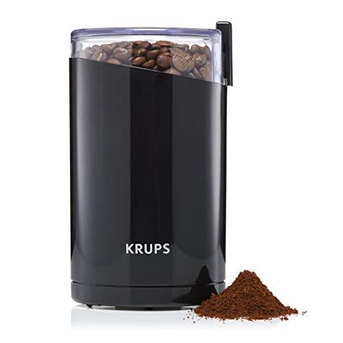 Krups F2034251 Fast Touch Molinillo de café y especias, 200 W, Plástico, Negro