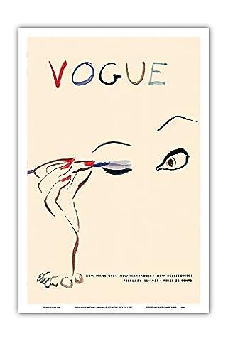 Vogue Magazine couverture - 15. Fevrier 1935 - Couverture de magazine ancien by Carl Erickson c.1935 - Reproduction Professionelle d
