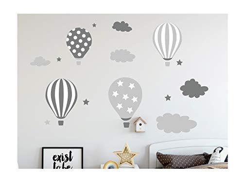 madras24 Etiqueta de la Pared Pegatinas de Pared Pegatinas para niños Globo Globos Nubes Nube Habitación para niños salón jardín de la Infancia Escuela decoración Sala de Estar