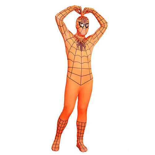 Spiderman Kostüm Frauen - FYBR Orange Spiderman SuperSkin Kostüm -