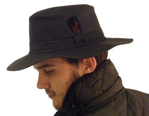 Campbell Cooper - Chapeau Style Australien Coton Ciré Marron