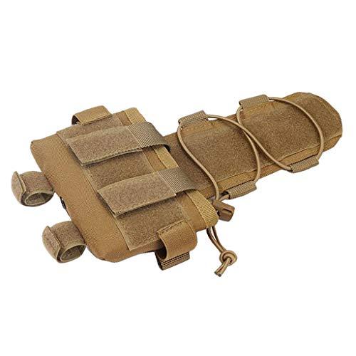 SaniMomo Helm Gegengewicht Akku Tasche Helmzubehör Tasche Reisetasche Wandern Jagd hohe Festigkeit Ultra leicht, Sand Color