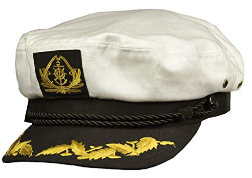Balke Kapitänsmütze mit goldener Stickerei, Farbe:weiß, Größe:59