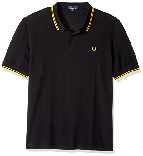 Fred Perry Herren Poloshirt Black/New Yellow