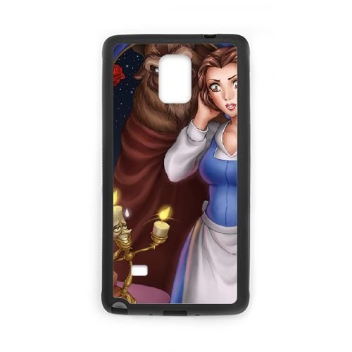 Personalized Durable Cases Samsung Galaxy Note 4 N9108 Black Phone Case Zryid Beauty and the Beast Protection Cover