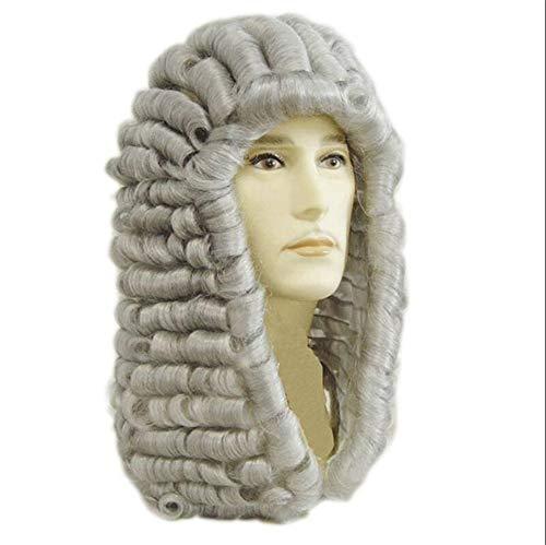 e männliche Anwalt Richter Colonial Deluxe Kostüm synthetische Cosplay Perücke für Halloween ()