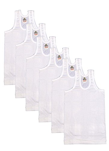 Esteem Brand Boys and Mens Super Cool Combed Cotton Vests Pack of 6 pcs (10-11 Years=Chest Round 70 cms)