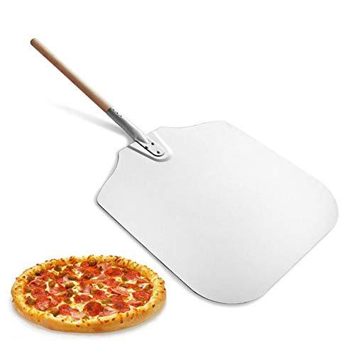 RecoverLOVE Aluminium Pizza Peel Pizza Pizza Schaufel für Ofen mit abnehmbaren Holzgriff 12 Zoll x 14 Zoll Antihaft-Pizza Peel Metall für Pizza Baker Oven Verwenden Sie Backen Brot Aluminium Pizza Peel