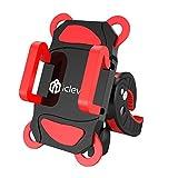 iClever IC-BM01 Supporto Porta Telefono per Biciclette, Morsa Universale per iOS, Android, GPS ed altri dispositivi, Colore Rosso