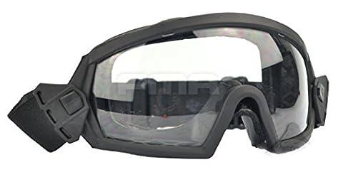 worldshopping4u New Airsoft tactique FMA Régulateur pour masque de ski pour le ski/snowboard/vélo/sport BK