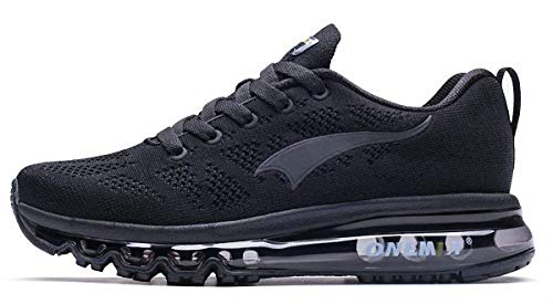 ONEMIX Scarpe da Corsa per Uomo Leggero Cuscino d'Aria Cuscino Outdoor Athletic Sport Trainer Walking Sneaker - Nero 43