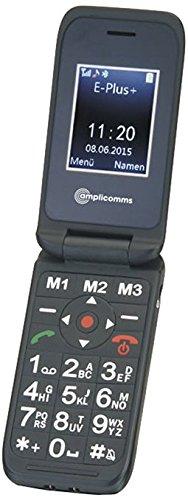 Amplicomms PowerTel M6700L, Großtasten-Handy mit Hörverstärkung 24/85 dB, schwarz