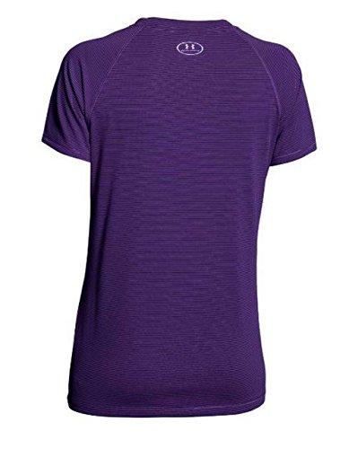 Under Armour Womens Stripe Tech Locker T Short Sleeve purple
