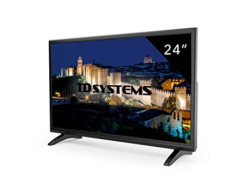 Téléviseur 24 Pouces LED Full HD TD Systems K24DLM7F. TV Full HD 1920 x 1080, HDMI, VGA, USB Lecteur et enregistreur