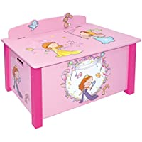 Preisvergleich für LibertyHouseToys Princess Spielzeug Box, Holz, mehrfarbig, groß