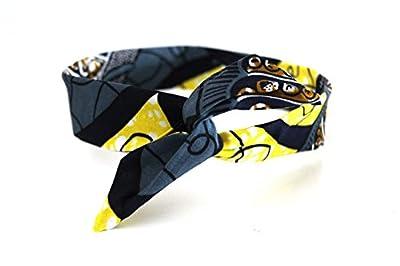 Bandeau rigide court Wax gris et jaune