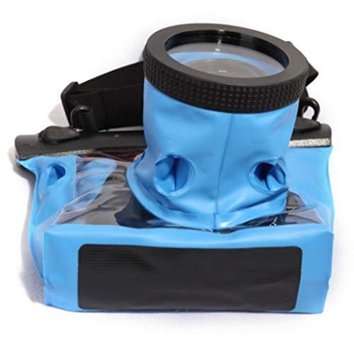 Kameratasche GQ-518L wasserdichte Tasche Tauchen wasserdichte Packsack Für HD PVC SLR Kamera Canon Gehäuse Fall 600D 40D 60D 7D 5D, Blau (Wasserdicht Canon 60d)