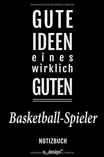 Notizbuch für Basketball-Spieler: Originelle Geschenk-Idee [120 Seiten liniertes blanko Papier]