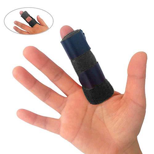 Mallet-fingerschiene (Volwco Fingerschiene Einstellbar Atmungsaktiv Mallet-Fingerschiene Unterstützung Mit Abnehmbarer Eingebauter Aluminium Für Index Mittleren Ring Kleinen Pinky Finger Links Und Rechts(Schwarz))