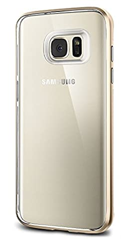 Coque Galaxy S7 Edge, Spigen® [Neo Hybrid Crystal] [Champagne Gold] TPU Souple Claire / Coque Premium Double Coche Fine avec Cadre en PC, Coque Samsung Galaxy S7 Edge (2016) - (556CS20048)