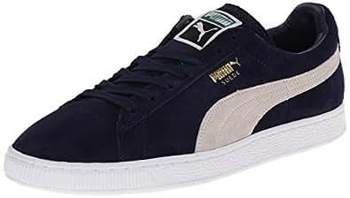 Puma Suede Classic + Herren Sneakers, Navy White, 35.5 EU / 3 UK / 4 US