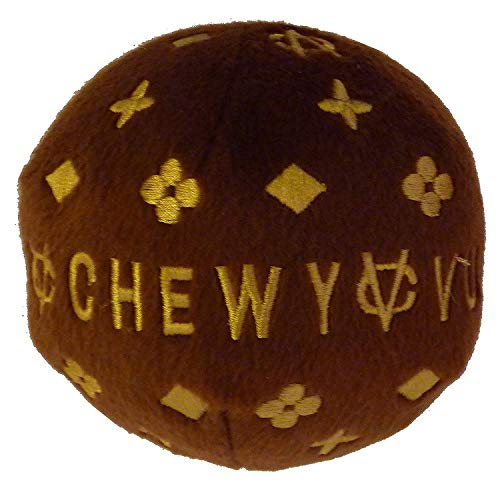 Chewy Vuitton Plush Dog Ball-S- by Dog Diggin Designs -